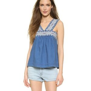MADEWELL | Embroidered Siesta Tank Sz 6